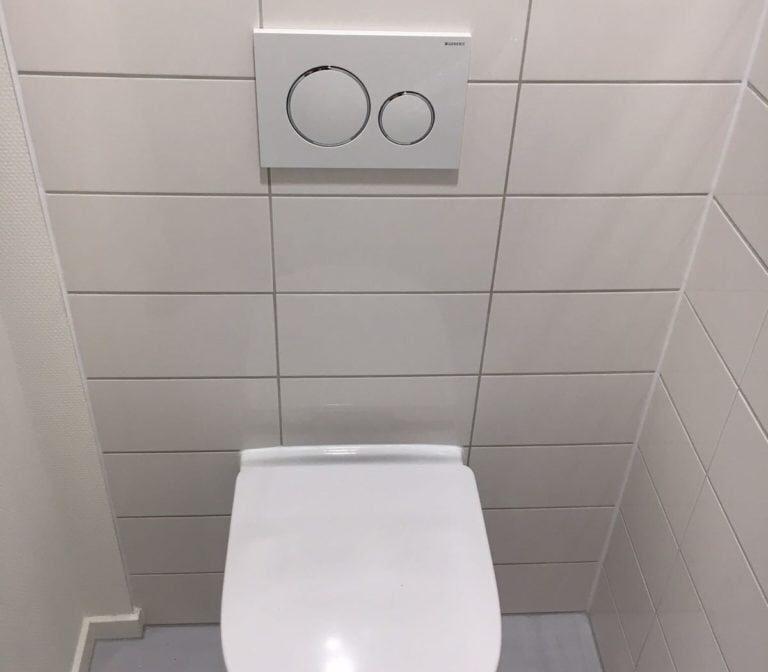 Badkamerrenovatie toilet, Huisartsenpraktijk Ginneken, Breda - Zandberg B.V.