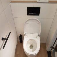 Toiletrenovatie resultaat toilet open, Valkenierslaan, Breda - Zandberg B.V.